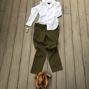 J. Crew Stretch Chinos Loden Color, Size 8